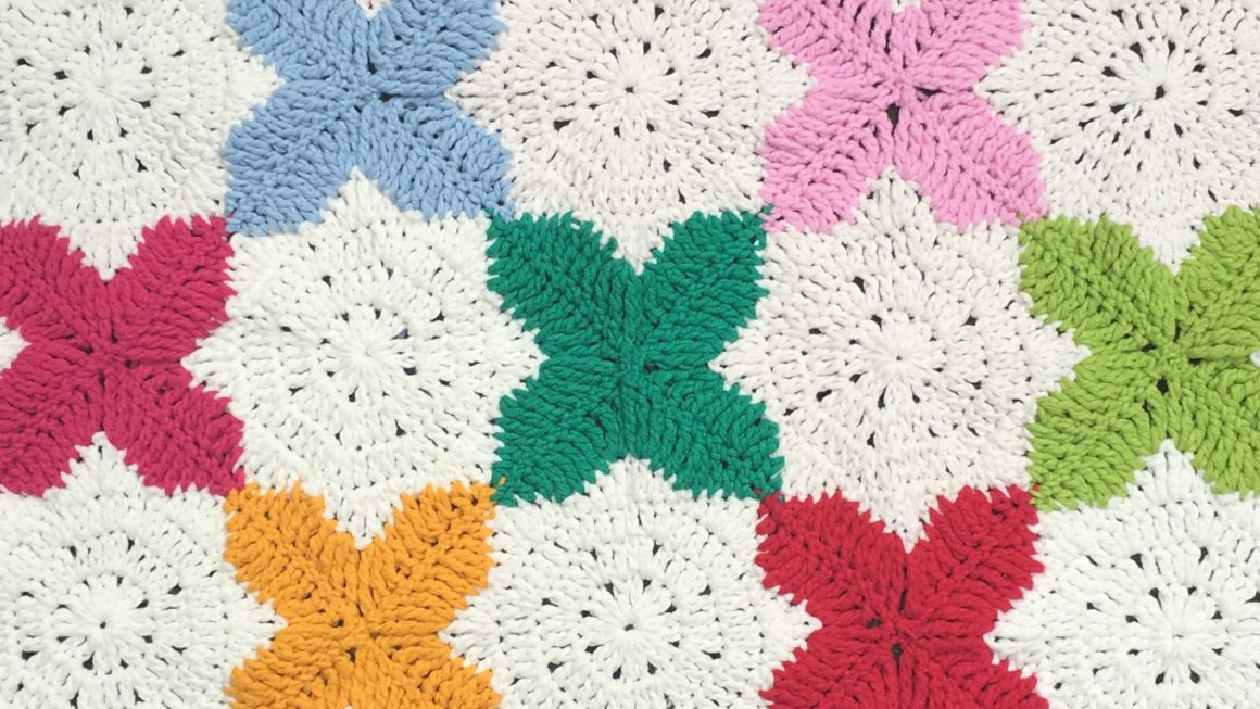 Star and Cross Crochet Square
